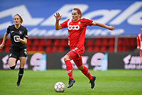 Sylke Calleeuw (9) of Standard pictured in action during a female soccer game between Standard Femina de Liege and RSC Anderlecht on the 8th matchday in play off 1 of the 2020 - 2021 season of Belgian Scooore Womens Super League , tuesday 18 th of May 2021  in Angleur , Belgium . PHOTO SPORTPIX.BE | SPP | DAVID CATRY
