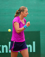 August 17, 2014, Netherlands, Raalte, TV Ramele, Tennis, National Championships, NRTK,  Womans final: Danielle Harmsen (NED) celebrates<br /> Photo: Tennisimages/Henk Koster