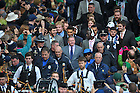 Oct. 20, 2012; Head coach Brian Kelly walks with the football team to Notre Dame Stadium...Photo by Matt Cashore.