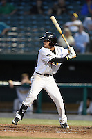 South Bend Silver Hawks shortstop Andrew Velazquez (16) at bat during a game against the Dayton Dragons on August 20, 2014 at Four Winds Field in South Bend, Indiana.  Dayton defeated South Bend 5-3.  (Mike Janes/Four Seam Images)