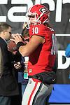 December 30, 2016: Georgia Bulldogs starting quarterback Jacob Eason (10) during pregame of the AutoZone Liberty Bowl at Liberty Bowl Memorial Stadium in Memphis, Tennessee. ©Justin Manning/Eclipse Sportswire/Cal Sport Media
