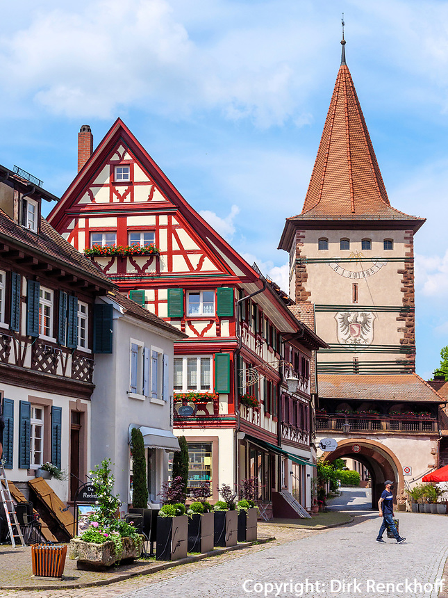 Altstadt und Obertorturm, Gengenbach, Ortenaukreis, Baden-Württemberg, Deutschland, Europa<br /> Old city and Obertorturm, Gengenbach, Ortenaukreis, Baden-Wuerttemberg, Germany, Europe