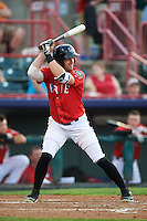Erie SeaWolves center fielder Connor Harrell (10) during a game against the Richmond Flying Squirrels on May 27, 2016 at Jerry Uht Park in Erie, Pennsylvania.  Richmond defeated Erie 7-6.  (Mike Janes/Four Seam Images)