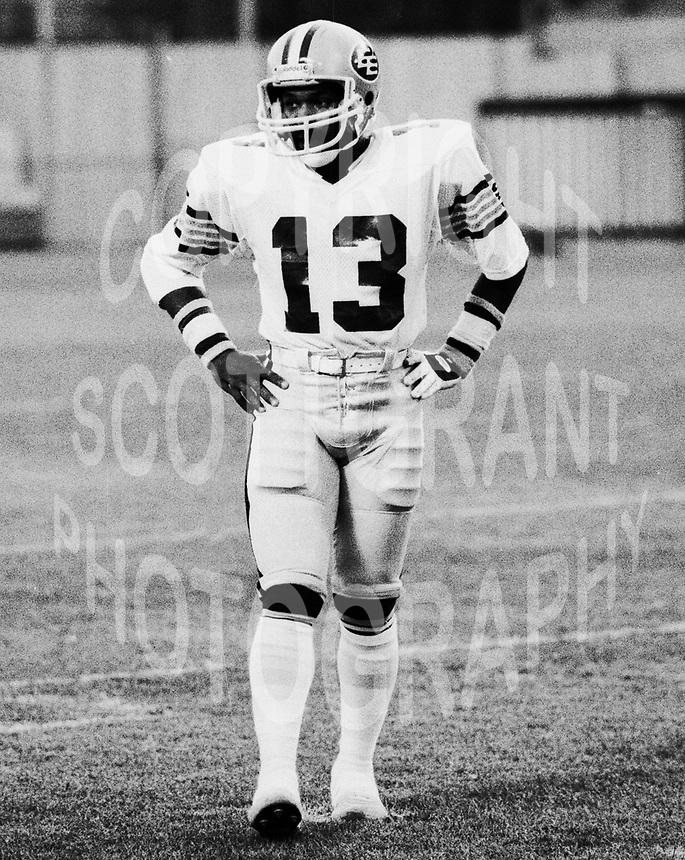 Larry Highbaugh Edmonton Eskimos 1981. Photo Scott Grant