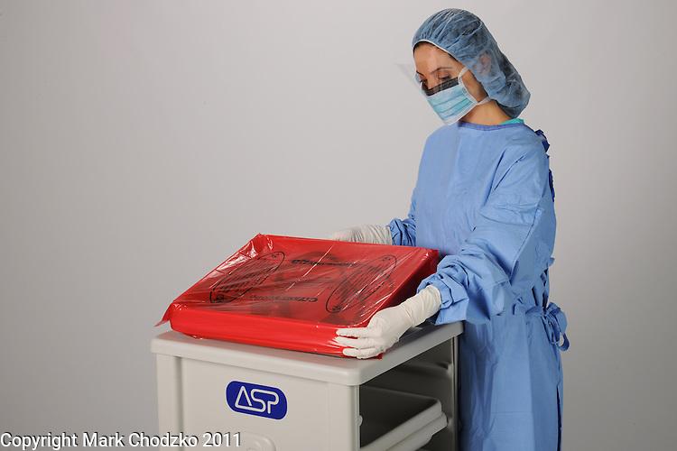 ASP healthcare professional handling sterilizationn products.