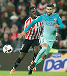 Athletic de Bilbao's Inaki Williams (l) and FC Barcelona's Gerard Pique during Spanish Kings Cup match. January 05,2017. (ALTERPHOTOS/Acero)