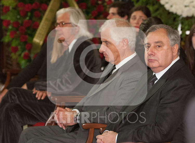 Obit The Duchess of Alba in Sevilla, Spain. In the pic: Carlos María Fitz-James Stuart y Palafox, centre. He is the soon and husband of The Duchess of Alba. November 20, 2014. (ALTERPHOTOS/BOUZA PRESS/Raul Castro)