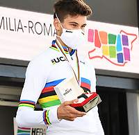 Picture by Simon Wilkinson/SWpix.com - 25/09/2020 - Cycling - UCI 2020 Road World Championships IMOLA - EMILIA-ROMAGNA ITALY - Individual Time Trial Men Elite -<br /> ITALY, Filippo GANNA - SANTINI