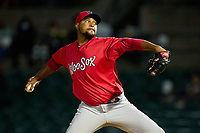 Worcester Red Sox pitcher Michael Feliz (60) during a game against the Rochester Red Wings on September 3, 2021 at Frontier Field in Rochester, New York.  (Mike Janes/Four Seam Images)