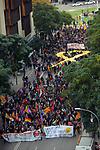 Manifestacion en Sabadell con motivo de la huelga general en Catalunya.