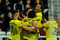 Blackburn Rovers' Bradley Dack celebrates scoring his side's first goal with teammates<br /> <br /> Photographer Alex Dodd/CameraSport<br /> <br /> Emirates FA Cup Third Round - Newcastle United v Blackburn Rovers - Saturday 5th January 2019 - St James' Park - Newcastle<br />  <br /> World Copyright © 2019 CameraSport. All rights reserved. 43 Linden Ave. Countesthorpe. Leicester. England. LE8 5PG - Tel: +44 (0) 116 277 4147 - admin@camerasport.com - www.camerasport.com