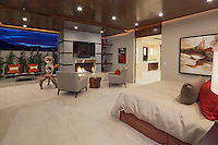 Stock photo of lavish modern master suite