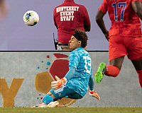 CHICAGO, IL - JULY 7: Guillermo Ochoa #13 makes a save during a game between Mexico and USMNT at Soldier Field on July 7, 2019 in Chicago, Illinois.
