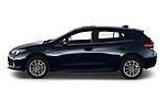 Car Driver side profile view of a 2021 Subaru Impreza Premium 5 Door Hatchback Side View
