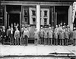 Waterbury postal workers, 1891; clerks to the left, uniformed carriers to the right