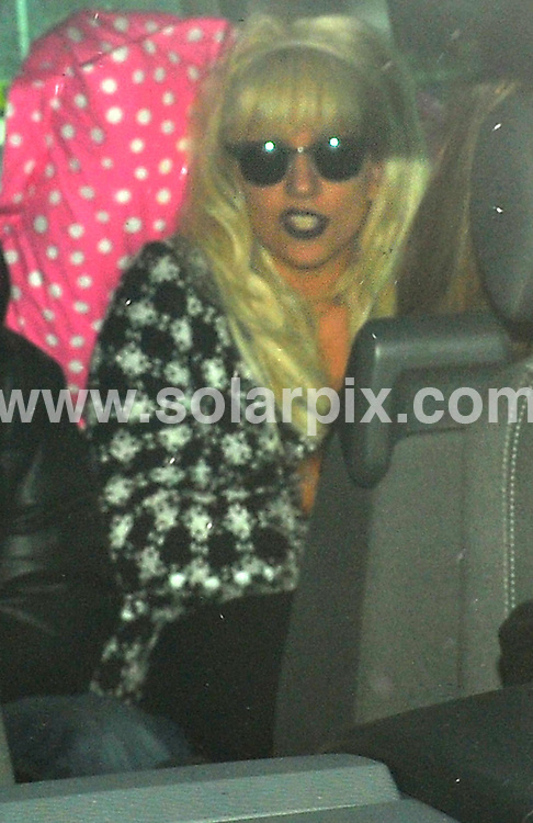 **ALL ROUND PICTURES FROM SOLARPIX.COM**.**SYNDICATION RIGHTS FOR UK AND SPAIN ONLY**.Lady GaGa arriving today at Berlin airport  looking a bit worse for wear after the party last night at the Brit Awards in london. Due to the heavy snow in Berlin the her plane London could not find a parking space for more than one hour.  .JOB REF: 8502         CPR/Zinken        DATE:19.02.09.**MUST CREDIT SOLARPIX.COM OR DOUBLE FEE WILL BE CHARGED**.**ONLINE USAGE FEE  GBP 50.00 PER PICTURE - NOTIFICATION OF USAGE TO PHOTO @ SOLARPIX.COM**