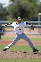 Chicago White Sox pitcher Yeimison Peralta (59) during an Instructional League game against the Los Angeles Dodgers on October 12, 2013 at Camelback Ranch Complex in Glendale, Arizona.  (Mike Janes/Four Seam Images)