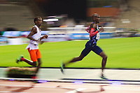 5th September 2020, Brussels, Netherlands;  Britains Mo Farah R runs during the One Hour Men at the Diamond League Memorial Van Damme athletics event at the King Baudouin stadium in Brussels, Belgium. Farah set a new world record.