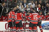 Teambesprechung New Jersey Devils<br /> New Jersey Devils vs. Florida Panthers<br /> *** Local Caption *** Foto ist honorarpflichtig! zzgl. gesetzl. MwSt. Auf Anfrage in hoeherer Qualitaet/Aufloesung. Belegexemplar an: Marc Schueler, Am Ziegelfalltor 4, 64625 Bensheim, Tel. +49 (0) 6251 86 96 134, www.gameday-mediaservices.de. Email: marc.schueler@gameday-mediaservices.de, Bankverbindung: Volksbank Bergstrasse, Kto.: 151297, BLZ: 50960101