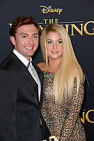 "LOS ANGELES, USA. July 10, 2019: Daryl Sabara & Meghan Trainor at the world premiere of Disney's ""The Lion King"" at the Dolby Theatre.<br /> Picture: Paul Smith/Featureflash"