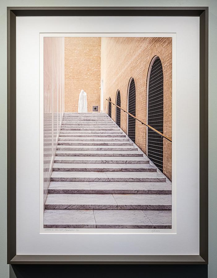 """Framed Size 26""""h x 20""""w, $650<br /> Putty bevelwood frame"""
