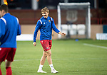 Dundee v St Johnstone…22.09.21  Dens Park.    Premier Sports Cup<br />Cammy Ballantyne on the bench for saints tonight pictured during the warm up<br />Picture by Graeme Hart.<br />Copyright Perthshire Picture Agency<br />Tel: 01738 623350  Mobile: 07990 594431