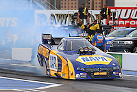Feb 20, 2015; Chandler, AZ, USA; NHRA funny car driver Ron Capps during qualifying for the Carquest Nationals at Wild Horse Pass Motorsports Park. Mandatory Credit: Mark J. Rebilas-