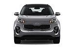 Car photography straight front view of a 2018 KIA Sportage EX 5 Door SUV Front View