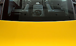 Engine Bay Rear Window - Rear window of a yellow Ferrari F430.