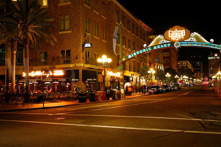 The Gaslamp District, Downtown San Diego, California