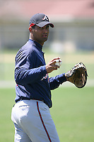 March 21st 2008:  Ernesto Mejia of the Atlanta Braves minor league system during Spring Training at Tiger Town in Lakeland, FL.  Photo by:  Mike Janes/Four Seam Images