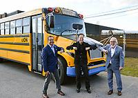 Le chef du Bloc Québécois, Yves-François Blanchet visite l'entreprise Lion Électrique,le 17 septembre 2021, dans le cadre des élections fédérales 2021.<br /> <br /> L'entreprise se spécialise dans la fabrication d'autobus électriques.<br /> <br /> M. Blanchet a fait la visite a compagnie du président fondateur, M. Marc Bédard ainsi que de M. Rhéal Fortin, candidat pour le Bloc Québécois dans la circonscription de Rivière-du-Nord.<br /> <br /> Mathieu Tye