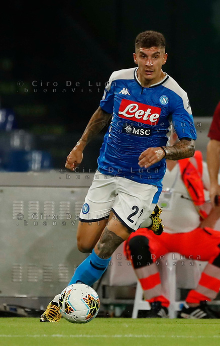 Giovanni Di Lorenzo of Napoli  during the  italian serie a soccer match,  SSC Napoli - AC Milan       at  the San  Paolo   stadium in Naples  Italy , July 12, 2020