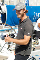 Pierre Casiraghi visits the Royal Nautical Club to prepare his boat for the sailing race in Palma de Mallorca, Spain # PIERRE CASIRAGHI AU ROYAL NAUTICAL CLUB DE PALMA DE MAJORQUE