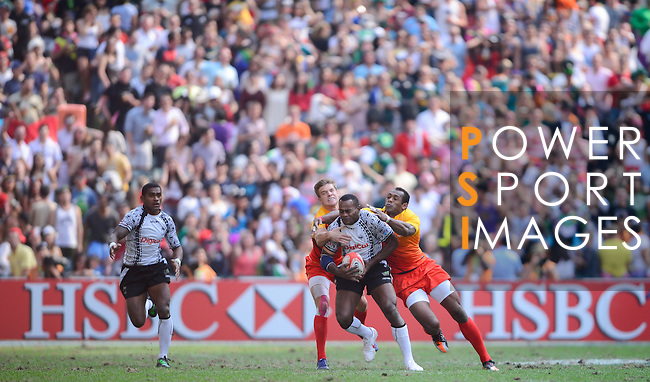 Fiji vs England on Day 3 of the 2012 Cathay Pacific / HSBC Hong Kong Sevens at the Hong Kong Stadium in Hong Kong, China on 25th March 2012. Photo © Victor Fraile  / The Power of Sport Images