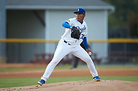Burlington Royals starting pitcher Angel Zerpa (30) in action against the Johnson City Cardinals at Burlington Athletic Stadium on September 4, 2019 in Burlington, North Carolina. The Cardinals defeated the Royals 8-6 to win the 2019 Appalachian League Championship. (Brian Westerholt/Four Seam Images)