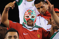 Mexico fan.   Mexico defeated Guatemala 2-1 in the quaterfinals for the 2011 CONCACAF Gold Cup , at the New Meadowlands Stadium, Saturday June 18, 2011.