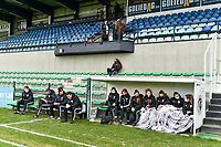 illustration picture of OHL substitutes and staff before a female soccer game between Eendracht Aalst and OHL on the 13 th matchday of the 2020 - 2021 season of Belgian Scooore Womens Super League , Saturday 6 th of February 2021  in Aalst , Belgium . PHOTO SPORTPIX.BE   SPP   STIJN AUDOOREN