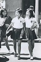 1973 FILE PHOTO -<br /> <br /> Notice going home all Student has Reg. Number from school