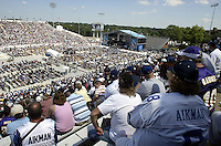 More than 19,000 fans gather at Fawcett Stadium to watch the Pro Football Hall of Fame induction ceremony Saturday, Aug. 5, 2006, in Canton, Ohio.<br />