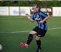 20140606 - Koksijde , BELGIUM : Brugge's Celine Vandekerkhove pictured during the soccer match between the women teams of Club Brugge Vrouwen  and FC Twente Vrouwen  , on the 30th matchday of the BeNeleague competition on Friday 6th June 2014 in Koksijde .  PHOTO DAVID CATRY
