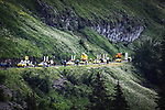 The publicity caravan before Stage 8 of the 2021 Tour de France, running 150.8km from Oyonnax to Le Grand-Bornand, France. 3rd July 2021.  <br /> Picture: A.S.O./Aurelien Vialatte | Cyclefile<br /> <br /> All photos usage must carry mandatory copyright credit (© Cyclefile | A.S.O./Aurelien Vialatte)