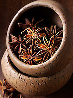 Whole Star Anise - stock photos