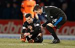 27.02.18 St Johnstone v Rangers:<br /> Jamie Murphy injured