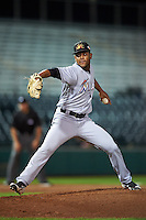 Mesa Solar Sox pitcher Jarlin Garcia (38), of the Miami Marlins organization, during a game against the Scottsdale Scorpions on October 17, 2016 at Scottsdale Stadium in Scottsdale, Arizona.  Mesa defeated Scottsdale 12-2.  (Mike Janes/Four Seam Images)