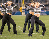 """Members of the Pitt dance team perform a """"Star Wars"""" theme. The North Carolina Tarheels defeated the Pitt Panthers football team 34-31 at Heinz Field, Pittsburgh, Pennsylvania on November 9, 2017."""