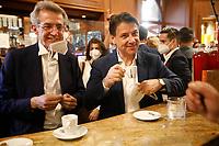 Giuseppe Conte con Il candidato Sindaco per Napoli Gaetano Manfredi