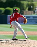 Wandy Peralta - Cincinnati Reds 2018 spring training (Bill Mitchell)