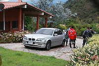 .The house and the  car of Venezuelan world Champion boxewr Edwin Valero in Mucuy, Merida State. Valero killed himself April 17th in a jail aftert being arrested for the murder of his wife.