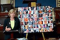 Senator Tammy Baldwin at Post Orlando Massacre 15 hour Senate filibuster on gun control led by Senator Chris Murphy of CT